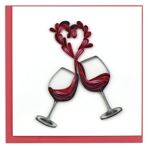 Quilled Toast to Love Greeting Card