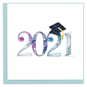 Quilled 2021 Graduation Greeting Card