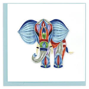 Quilled Abstract Elephant Greeting Card
