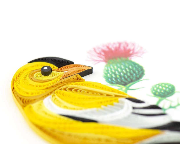 Quilled American Goldfinch Greeting Card 1