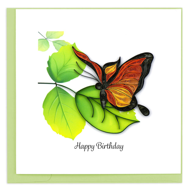 Quilled Birthday Butterfly Greeting Card 1