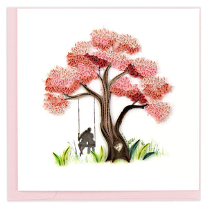 Quilled Blossoming Love Greeting Card