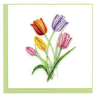 Quilled Colorful Tulips Greeting Card