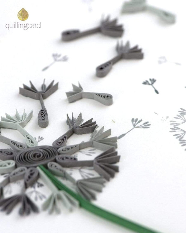 Quilled Dandelion Greeting Card 1