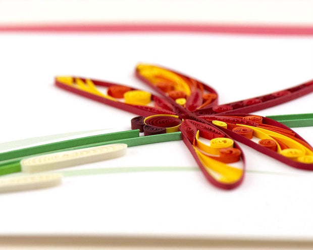 Quilled Dragonfly Greeting Card 1