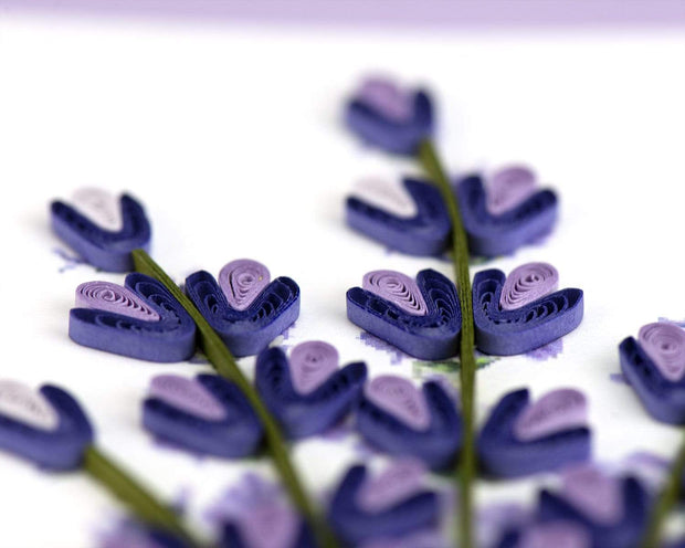 Quilled Lavender Greeting Card 1