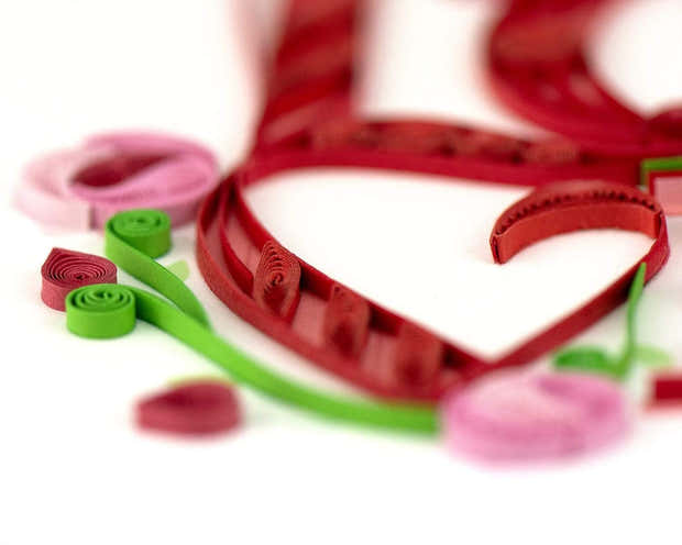 Quilled Love Greeting Card 1