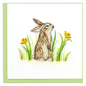 Quilled Rabbit Greeting Card