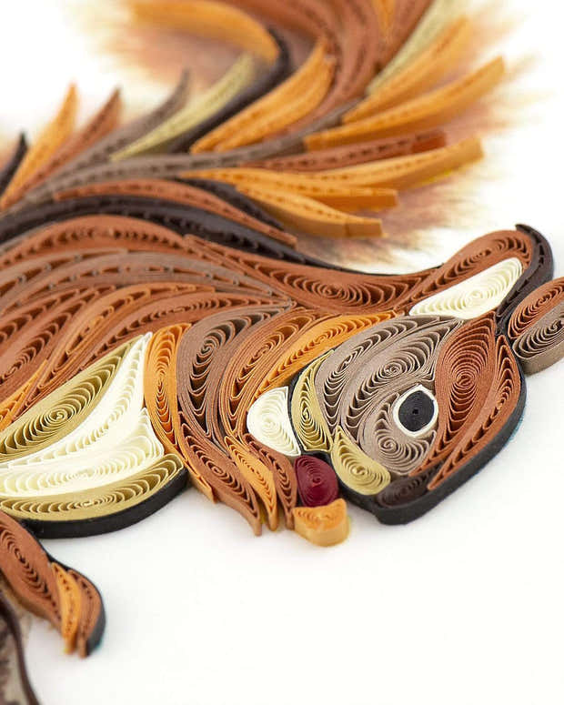 Quilled Squirrel Greeting Card 1
