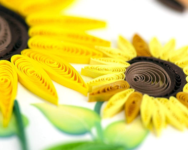 Quilled Sunflower Greeting Card 1