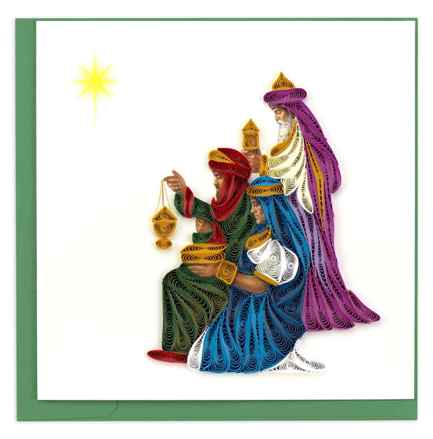 Quilled Three Wise Men Christmas Card 1