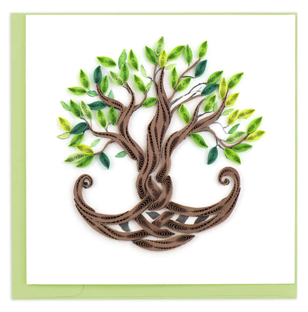 Quilled Tree of Life Greeting Card 1