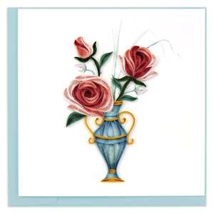 Quilled Victorian Rose Bouquet Greeting Card