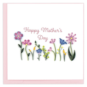 Quilled Mother's Day Wildflowers Greeting Card