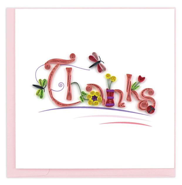 Quilled Thanks Greeting Card 1