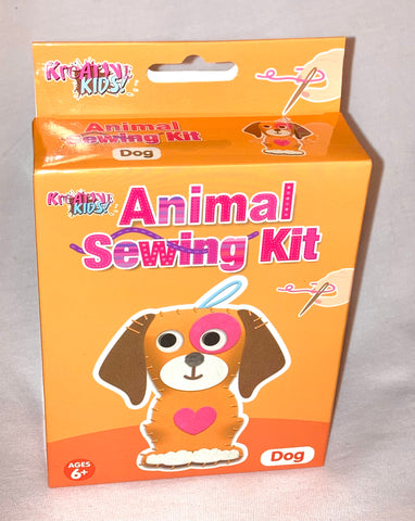 Animal Sewing Kit (Dog, Elephant, Hippo and Monkey)