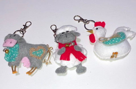 Farm Animal Keyring/ Luggage I.D