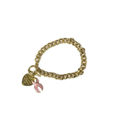 Together We Can Make a Difference Bracelet in Gold Tone