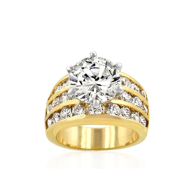 Classic Gold Triple Engagement Ring