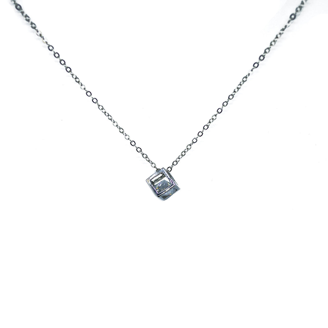 Diamante Dangling CZ Pendant Necklace