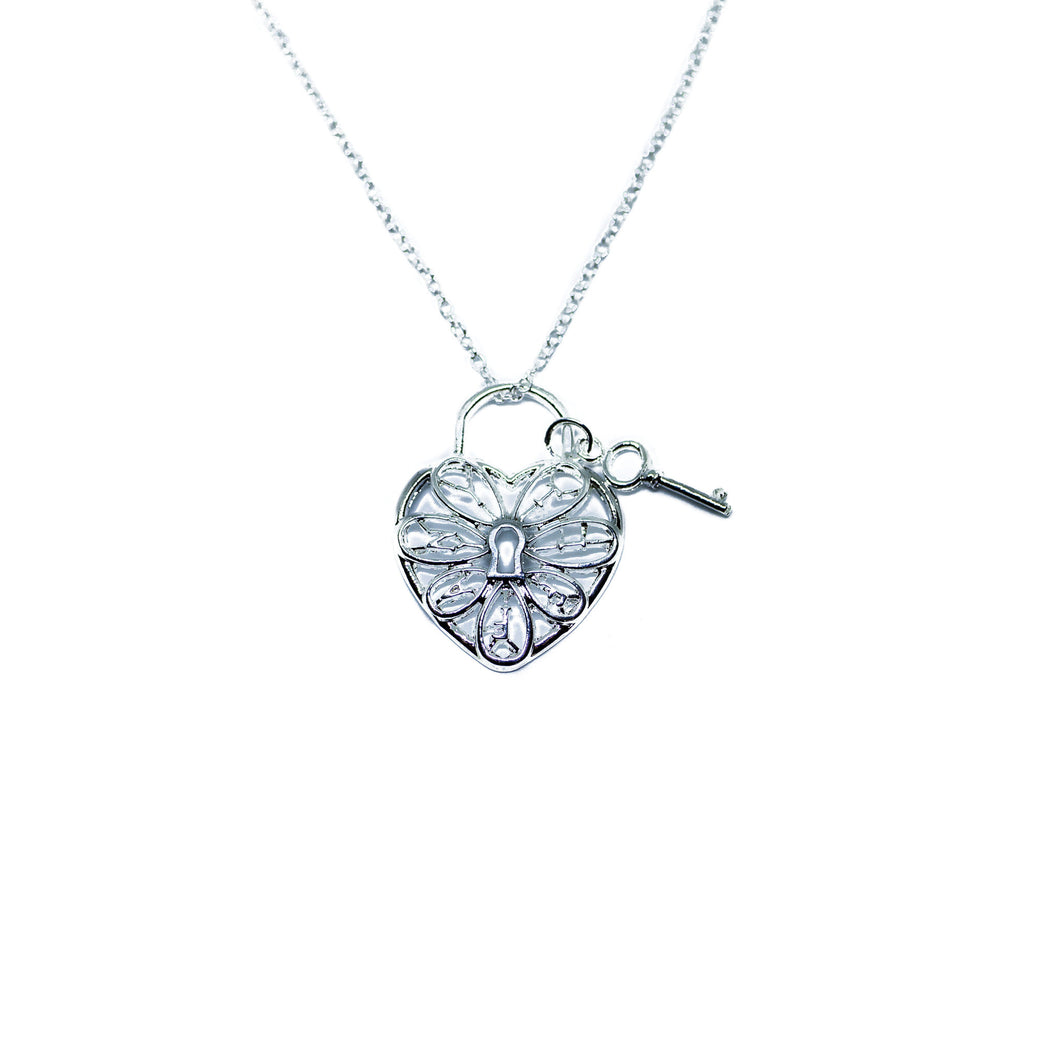 Lock and Key 'Tiffany' Heart Necklace