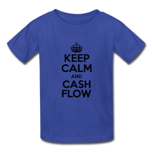 Load image into Gallery viewer, Keep Calm and Cash Flow Kid's T-Shirt - royal blue