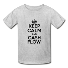 Load image into Gallery viewer, Keep Calm and Cash Flow Kid's T-Shirt - heather gray