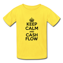 Load image into Gallery viewer, Keep Calm and Cash Flow Kid's T-Shirt - yellow