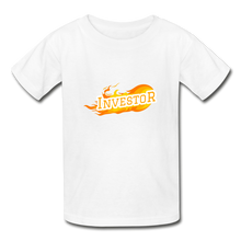 Load image into Gallery viewer, Fire Investor Kid's T-Shirt - white