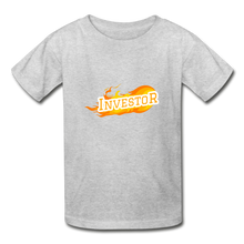 Load image into Gallery viewer, Fire Investor Kid's T-Shirt - heather gray