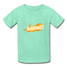Load image into Gallery viewer, Fire Investor Kid's T-Shirt - deep mint