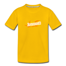 Load image into Gallery viewer, Fire Investor Kid's T-Shirt - sun yellow