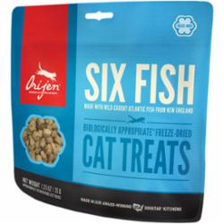 ORIJEN Grain Free Six Fish Freeze Dried Cat Treats, 1.25 oz
