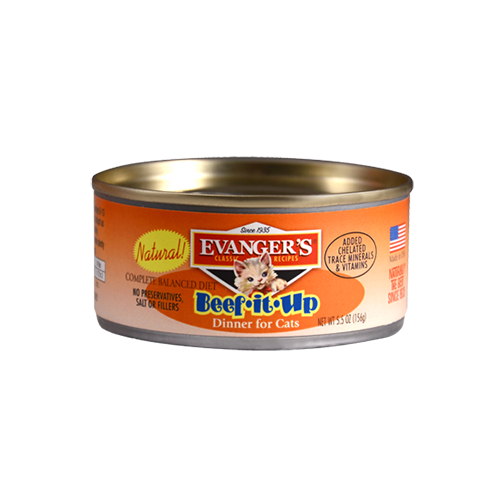 Evanger's Classic Recipes Beef it Up Dinner Grain-Free Canned Cat Food, 5.5-oz