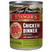 Evanger's Super Premium Chicken Dinner Grain-Free Canned Dog Food, 12.8-oz