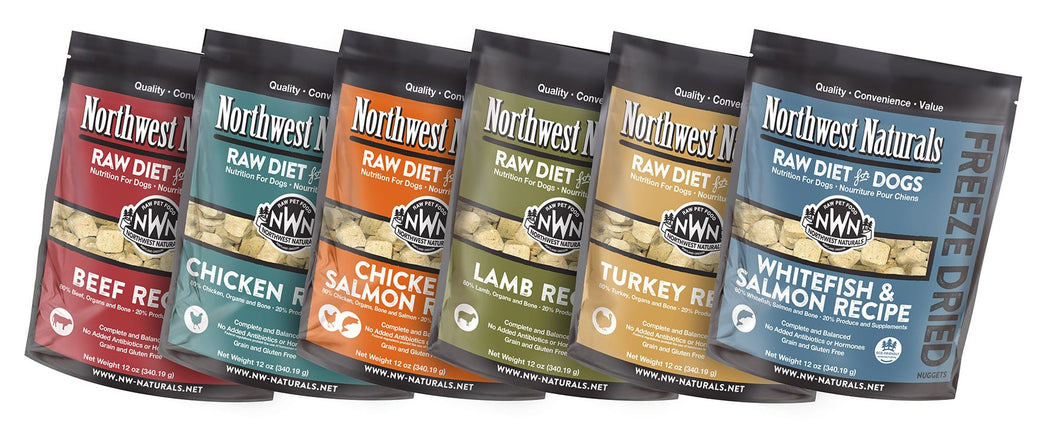 Northwest Naturals Raw Diet Grain-Free Turkey Nuggets Freeze Dried Dog Food, 12-oz