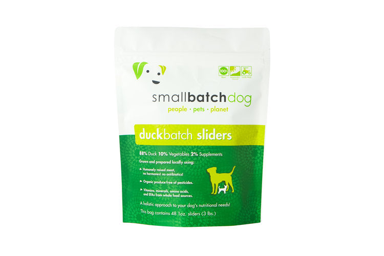 Small Batch Dog Duck Batch 8-oz Patties Raw Frozen Dog Food, 6-lb