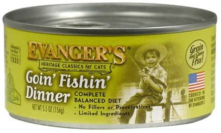 Evanger's Classic Recipes Goin' Fishin' Dinner Grain-Free Canned Cat Food, 5.5-oz