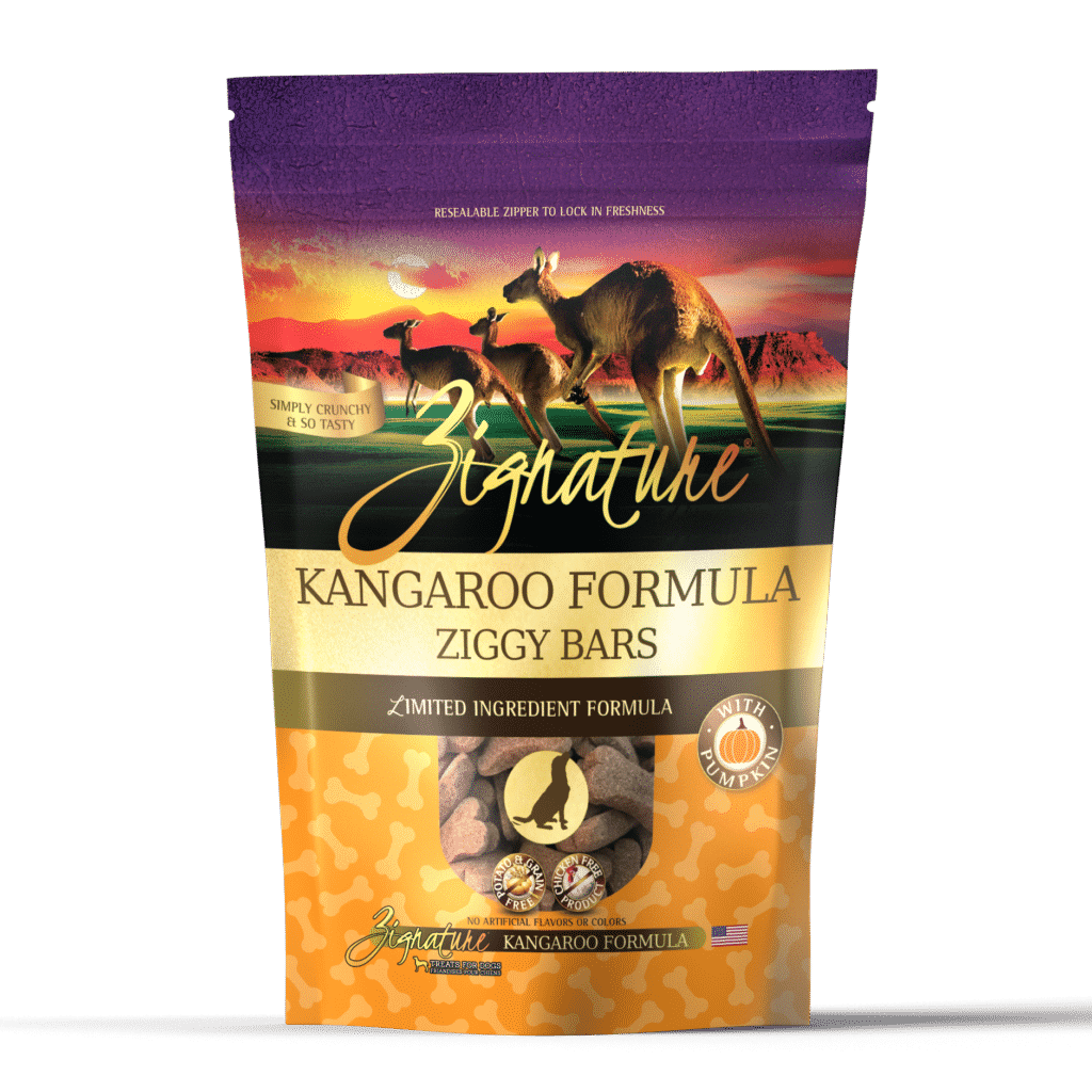 Zignature Kangaroo Formula Ziggy Bars Dog Treats, 12-oz