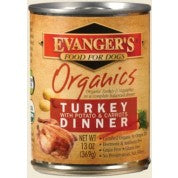 Evanger's Organics Turkey with Potato & Carrots Dinner Grain-Free Canned Dog Food, 13-oz
