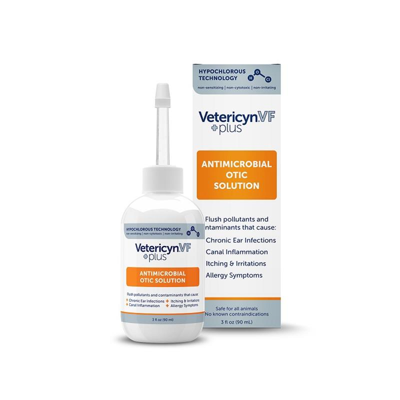 Vetericyn VF Plus Antimicrobial Otic Solution, 3 oz