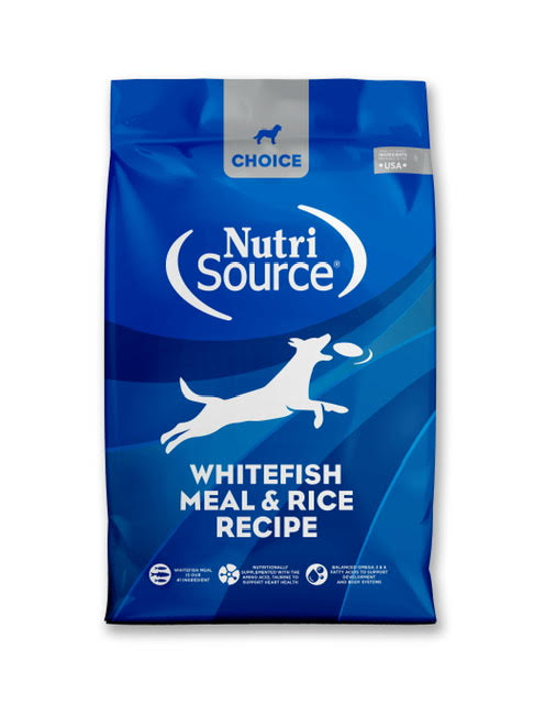 NutriSource Choice Whitefish Meal & Rice Recipe Dry Dog Food, 30-lb