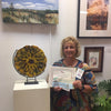 Wanda Tyner honorable mention sculpture category blooming Yellow