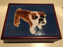 Wanda Tyner Glass Art  Willie bull dog