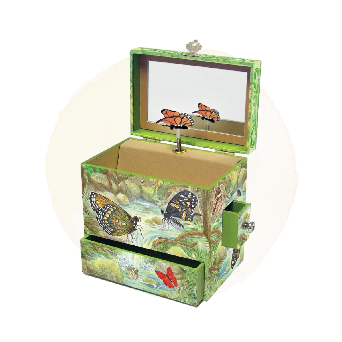 Monarch Butterflies Music Box