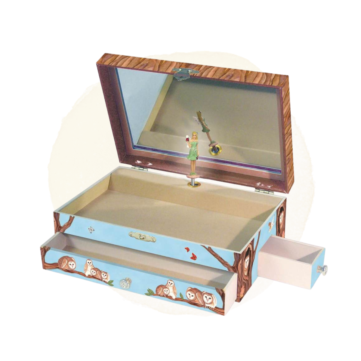 Owl Travellers Music Box