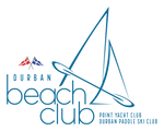 logo of Durban Beach Club with two sails and a paddle