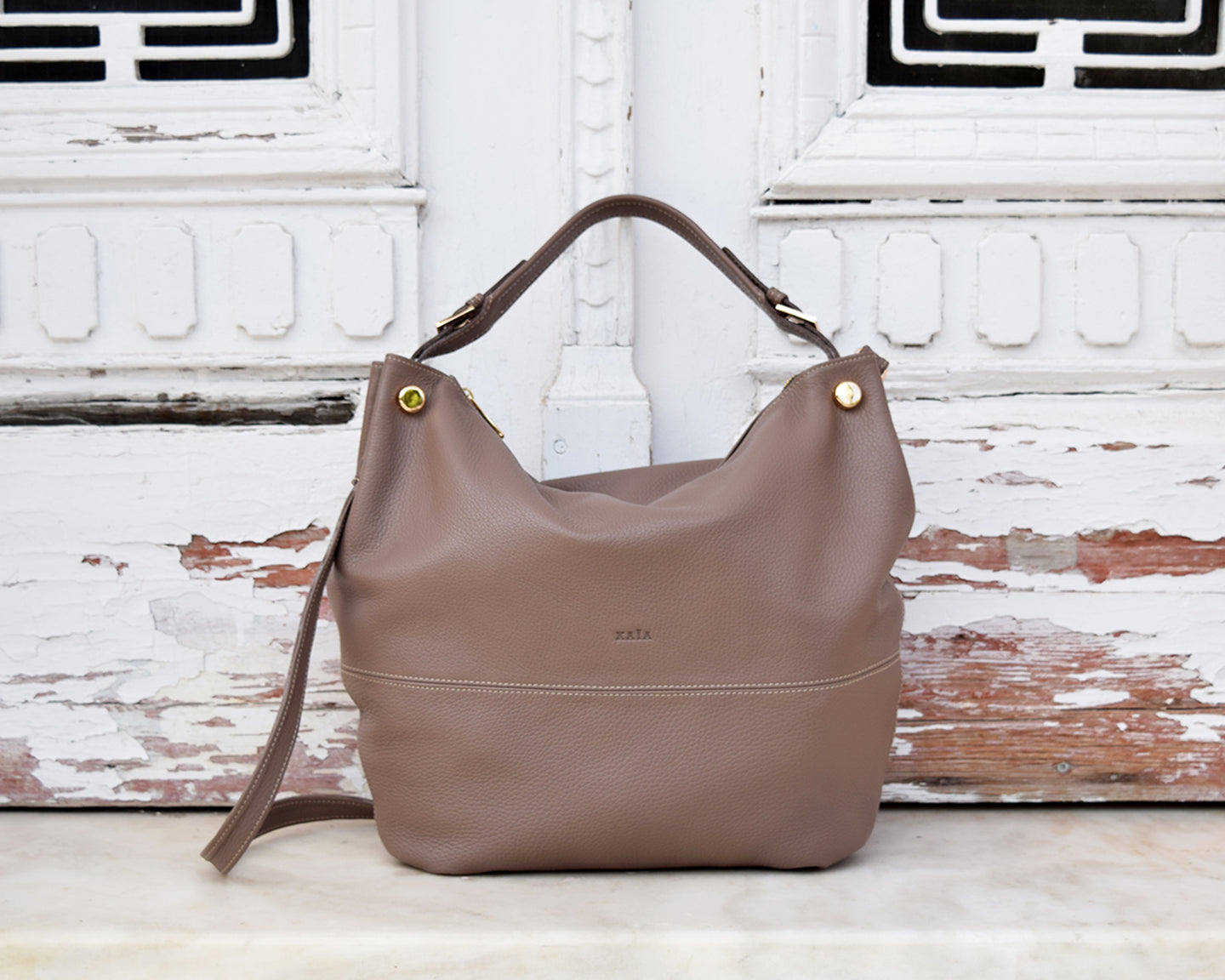 Ophelia Leather Shoulder Bag