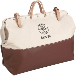 20 in Canvas Tool Bag. 20 inHx24 inLx6 inW