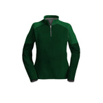 Female 3/4 Mock Zip Running Top | Green